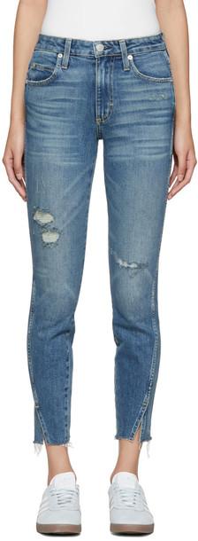 amo jeans high blue
