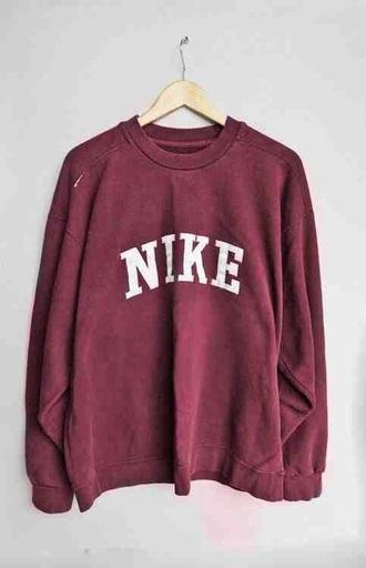 shirt nike burgundy sweatshirt