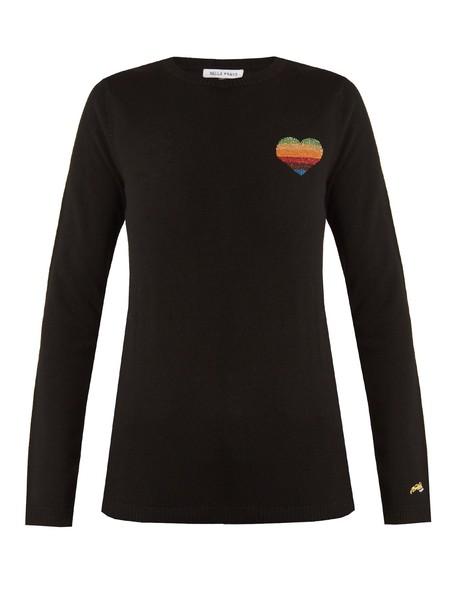 Bella Freud sweater heart wool black