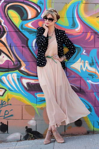 pink dress pop culture afternoon low boots brown shoes green belt brown hat black hat dress