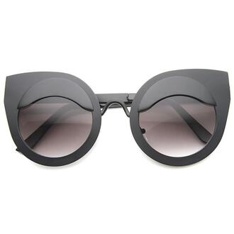 sunglasses cat eye matte black matte black sunglasses