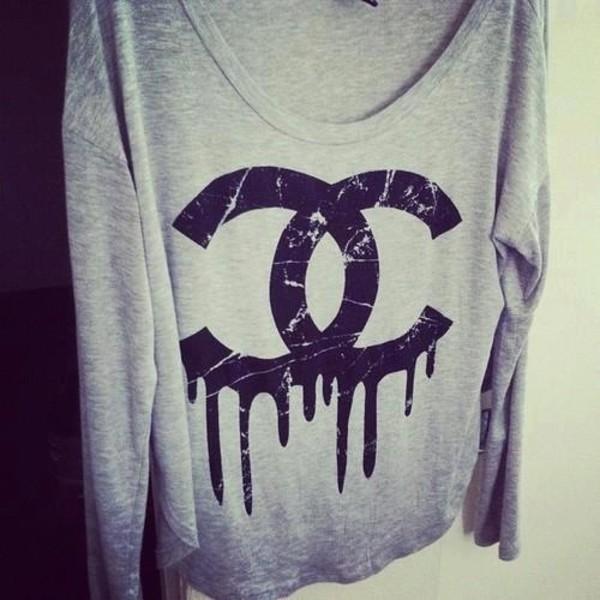 Chanel Sweatshirt Ebay cc Dripping Chanel Sweatshirt