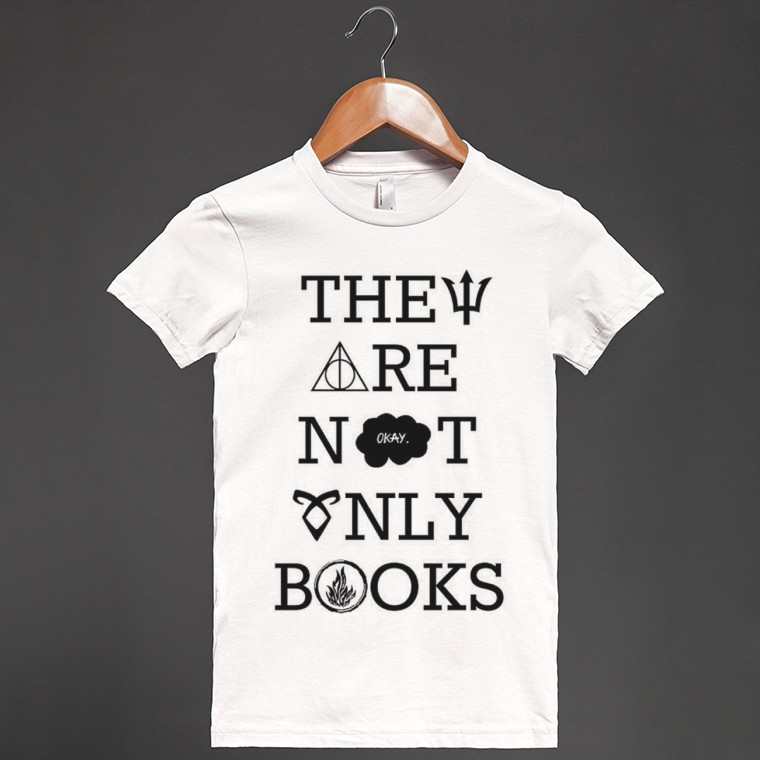 They Are Not Only Books | Fitted T-shirt | Skreened