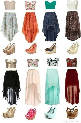 skirt shoes heels cute spring outfits
