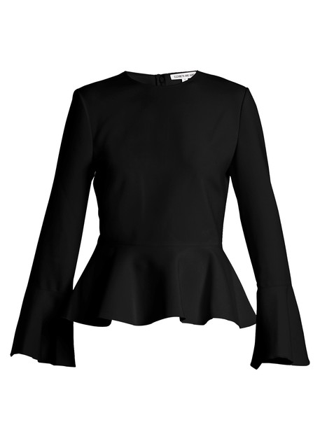 Elizabeth and James top peplum top white black