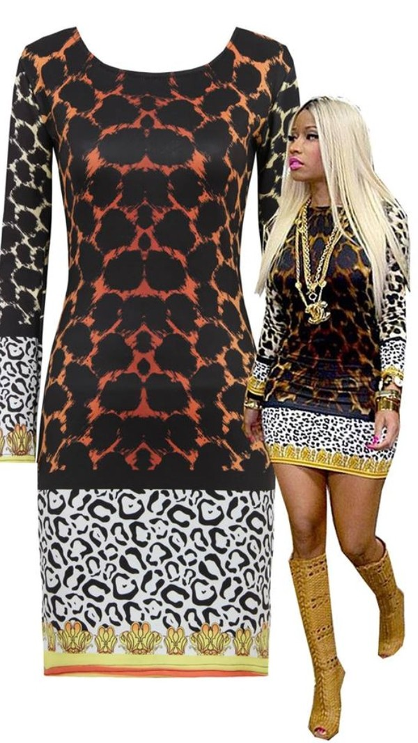 dress animal print nicki minaj