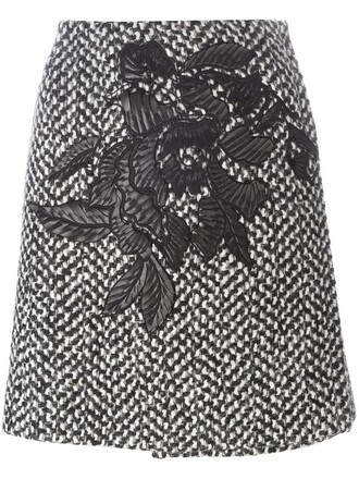 skirt knit women black wool