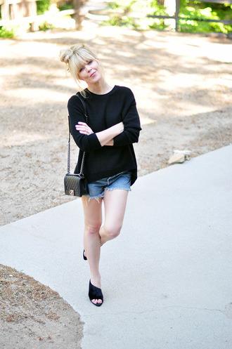 love maegan blogger sweater wedges