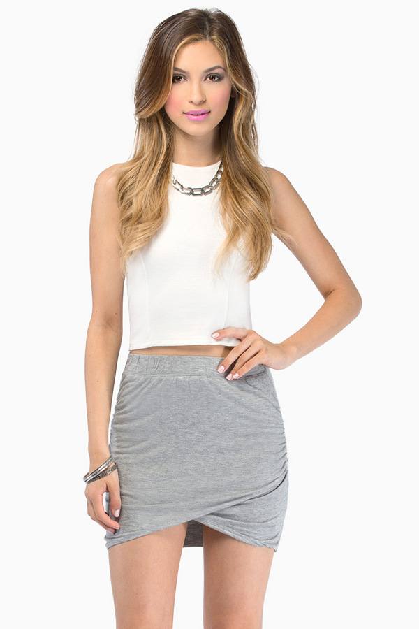 Pull It Together Mini Skirt - Tobi