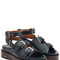 Leather sandals with buckled straps