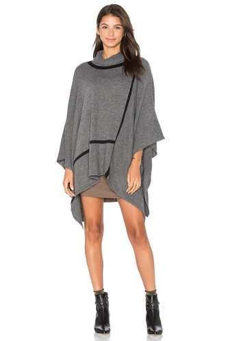 poncho charcoal top