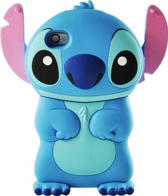 home accessory blue case iphone case stich