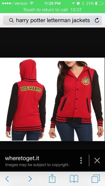 coat harry potter sweater red coat