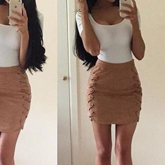 skirt brown brown skirt mini skirt suede brown suede suede skirt camel camel brown camel suede skirt