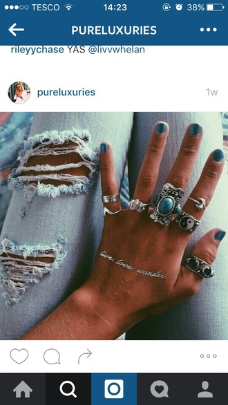 jewels ripped jeans hot grunge summer gems gem stones ring jewelry gift ideas gemstone gemstone ring yin yang moon