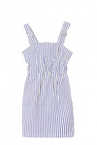 dress sleeveless dress stripes blue white striped dress striped marine