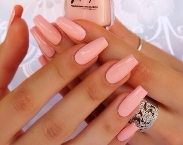 Pale Orange nail polish: pink nails, baby pink, cute nails, sweater baby pink