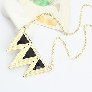 Fashion Punk Three Triangles Pendant Chain Necklace 3 Color NA072 | eBay