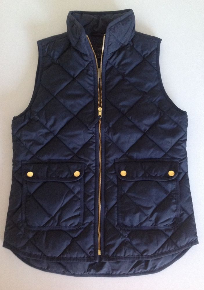 Crew Excursion Quilted Down Vest NWT Color: Navy Size: XS, S, M, L : down quilted vest - Adamdwight.com