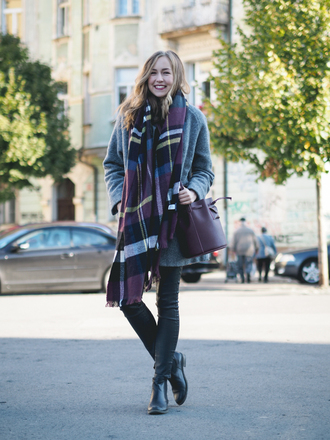 a cup of style blogger scarf coat pants shoes bag