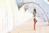 seams for a desire,blogger,top,bag,jewels,sequins,stripes,ruffle,sunglasses,clutch