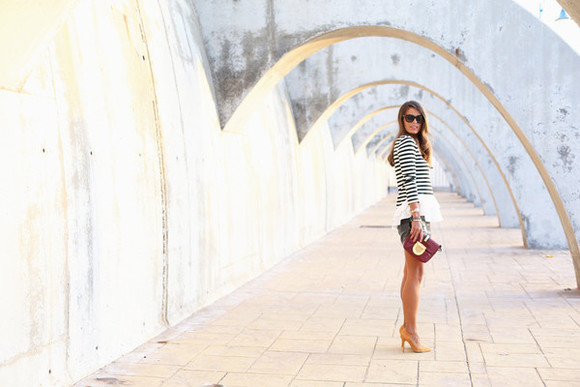 seams for a desire blogger top bag sunglasses jewels sequins stripes ruffle clutch