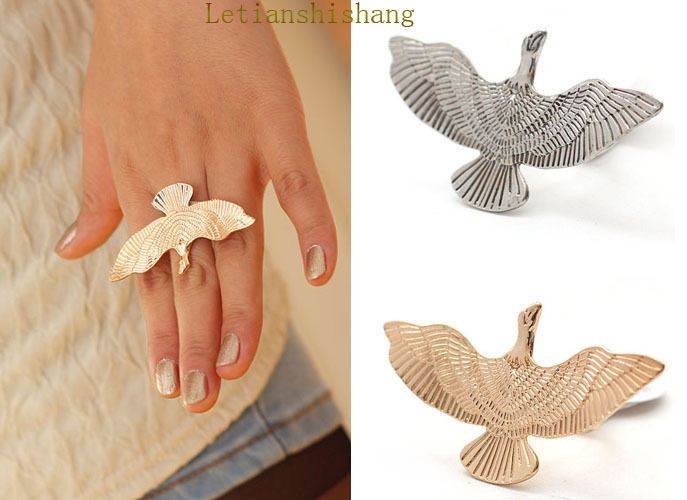 New Fashion Gold Silver Plated Flying Bird Peace Dove Ring Adjustable R240 | eBay