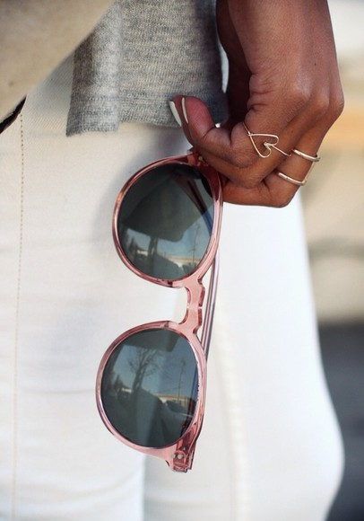 sunglasses pink sunglasses tumblr sincerely jules fashion blogger
