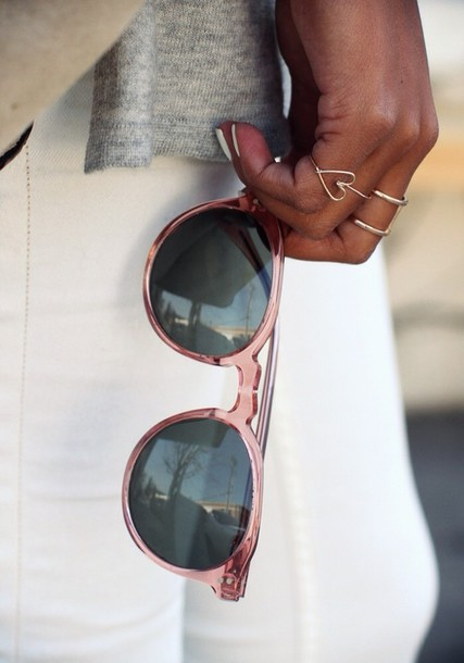 sunglasses pink sunglasses sincerely jules tumblr fashion blogger