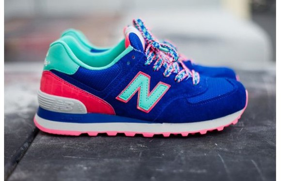 shoes cute sneakers trainers blue colours new balance candy footwear multicolor sneakers