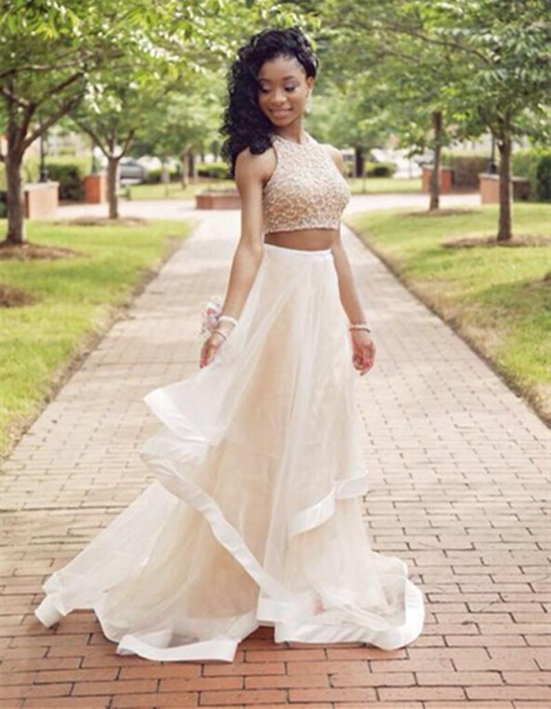 Aliexpress.com : Buy Beautiful Halter Beaded Evening Dresses 2015 ...