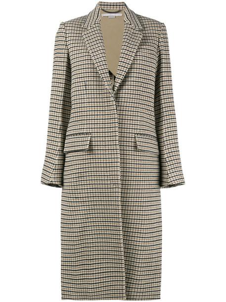 Stella McCartney coat oversized women spandex nude cotton wool