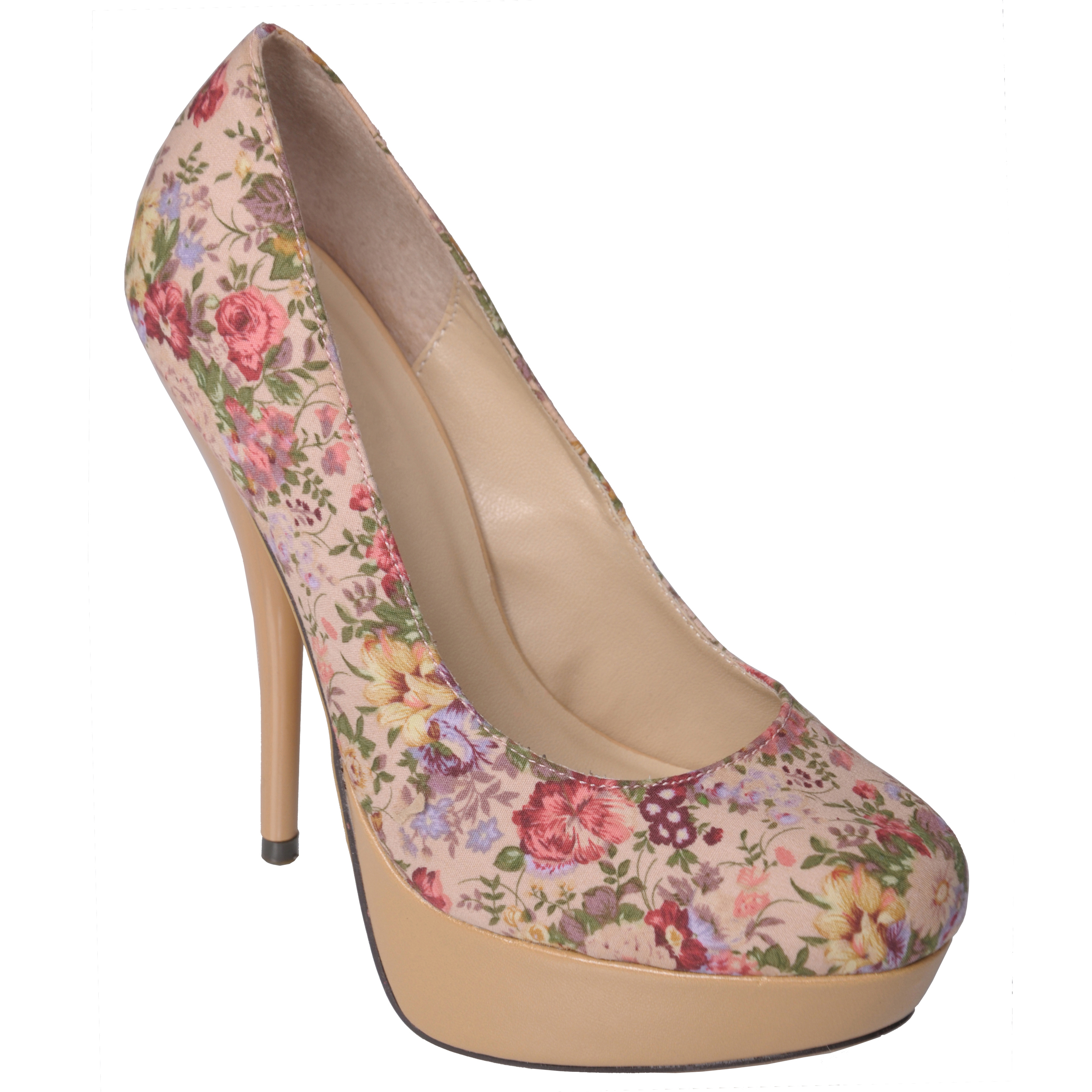 Glaze by journee co women's 'nicole 2 tau' floral print platform pumps
