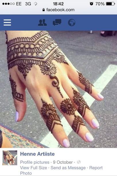 make-up henna henna detail