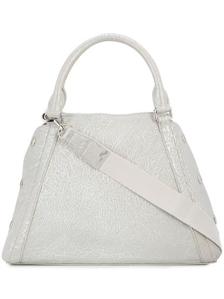 AKRIS women bag leather grey metallic