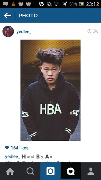 top black hba jumper urban urban menswear menswear