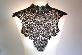 scarf collar gothic dentelle col gothique lace fantasy