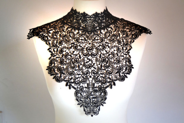scarf collar goth dentelle col gothique lace fantasy