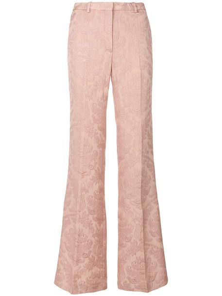 theory women spandex jacquard cotton purple pink pants