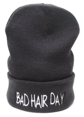 Bad Hair Day Beanie Hat: Amazon.co.uk: Clothing