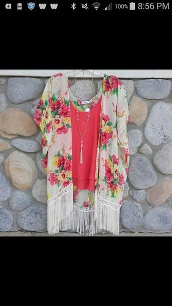 cardigan kimono shirt necklace