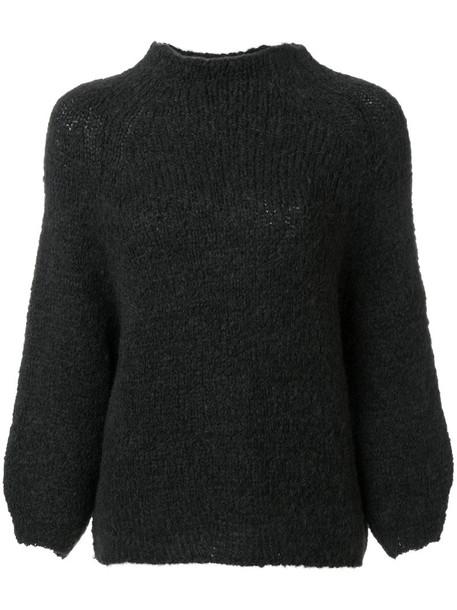 humanoid sweater women mohair knit grey