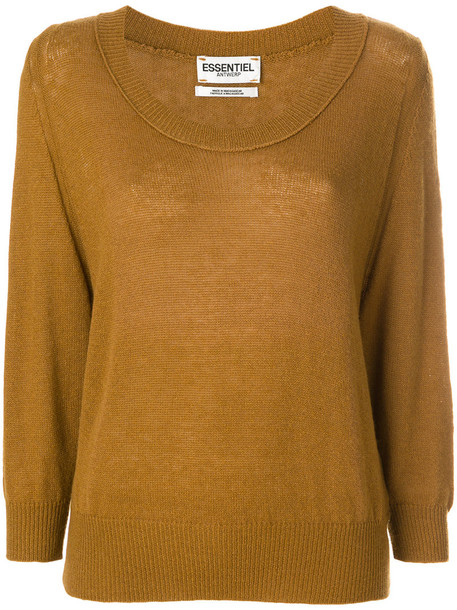 ESSENTIEL ANTWERP sweater knitted sweater women wool brown