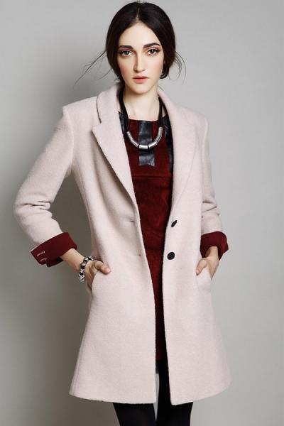 Distinctive Wool-blend Coat - OASAP.com