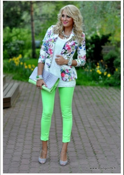 pants lime green trousers lime