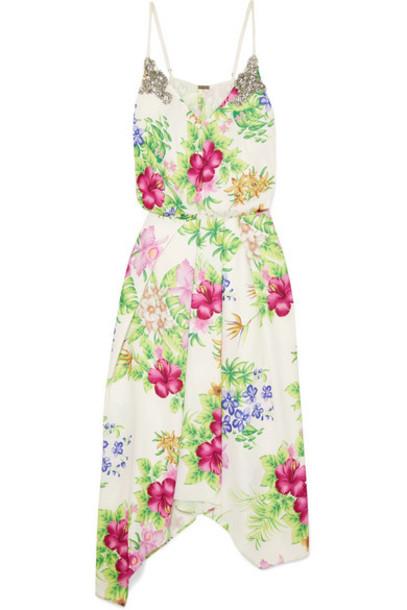 Dodo Bar Or - Crystal-embellished Floral-print Chiffon Midi Dress - White