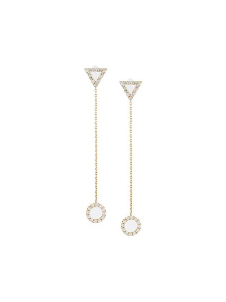 Gisele For Eshvi women earrings gold grey metallic jewels