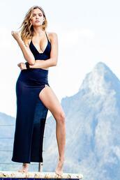 dress,black,bottoms,luxury,maxi skirt,womens sauvage,wrap top,navy,two piece dress set,bikiniluxe