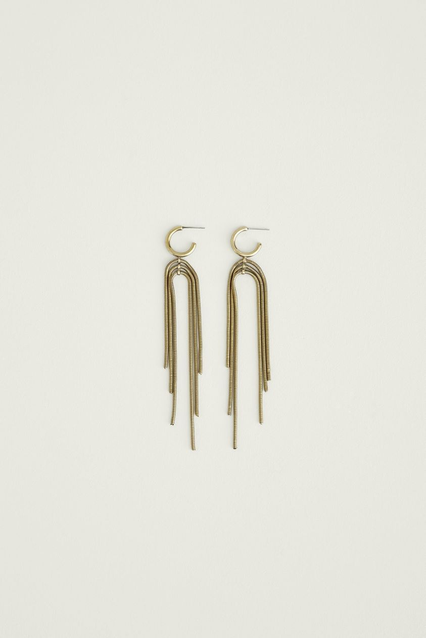 SOKO Exclusive Concentric Earrings For Women - Brass