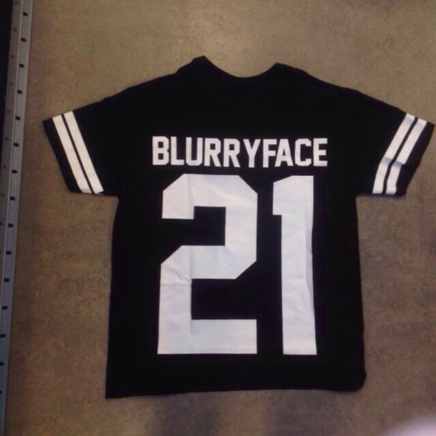 shirt black shirt black t-shirt twenty one pilots black jersey number